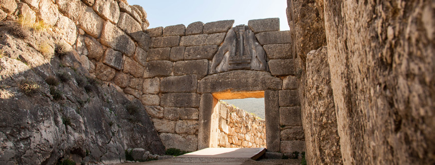 Archaeological-site-of-Mycenae-Lion-Gate-Argolis-Peloponnese-Greece