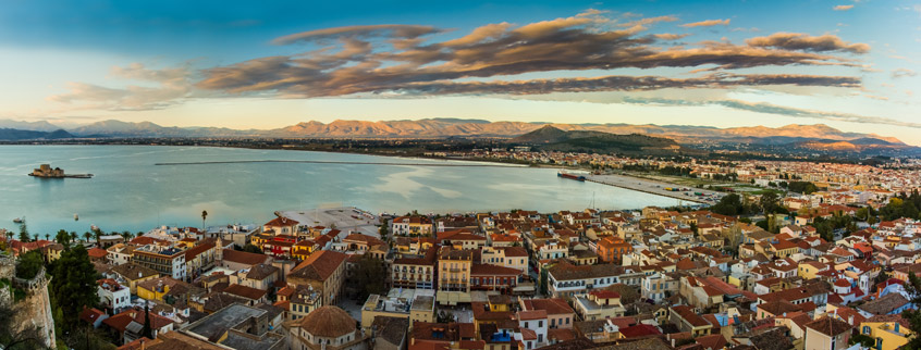 The city of Nafplio in Peloponnese
