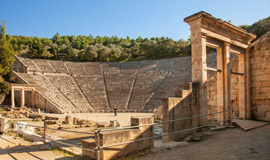 Archaeological-site-of-Epidaurus-Ancient-theater--in-Peloponnese-in-Greece-1
