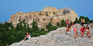 Areopagus-hill-of-Athens-in-Greece