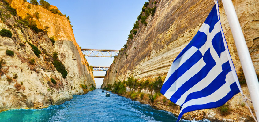 Corinth-Canal-of-Peloponnese-in-Greece-1