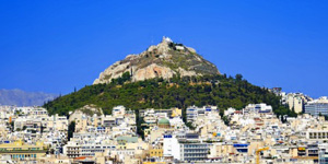 Lycabettus-hill-of-Athens-in-Greece