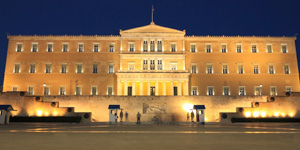 The-Greek-Parliament-at-Syntagma-square-of-Athens-in-Greece