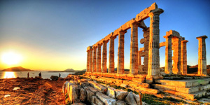 The-temple-of-Poseidon-in-Sounio-of-Greece