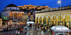 monastiraki-area-of-Athens-in-Greece