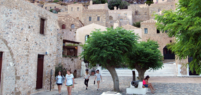 Monemvasia-Castle-in-Laconia-of-Peloponnese-in-Greece-1