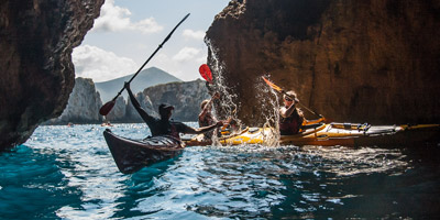 Sea Kayaking in Pylos of Messinia Navarino Bay