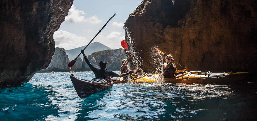 Sea-kayak-in-Pylos-of-Messinia-in-Peloponnese-of-Greece-2